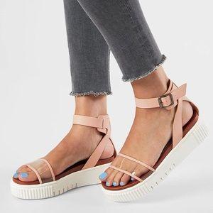 MIA Lunna Clear Platform Sandals